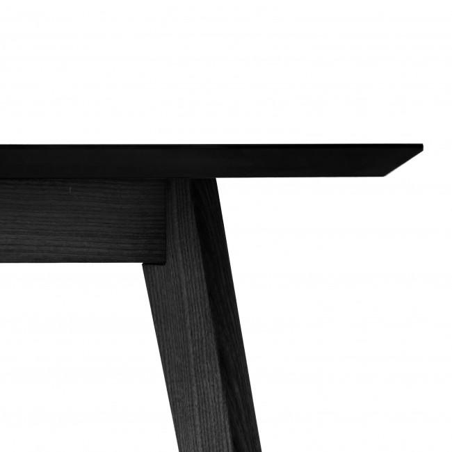 NOFU653 ovalt spisebord L180cm i sort ask 180 x 74 x 90 - Borde ...