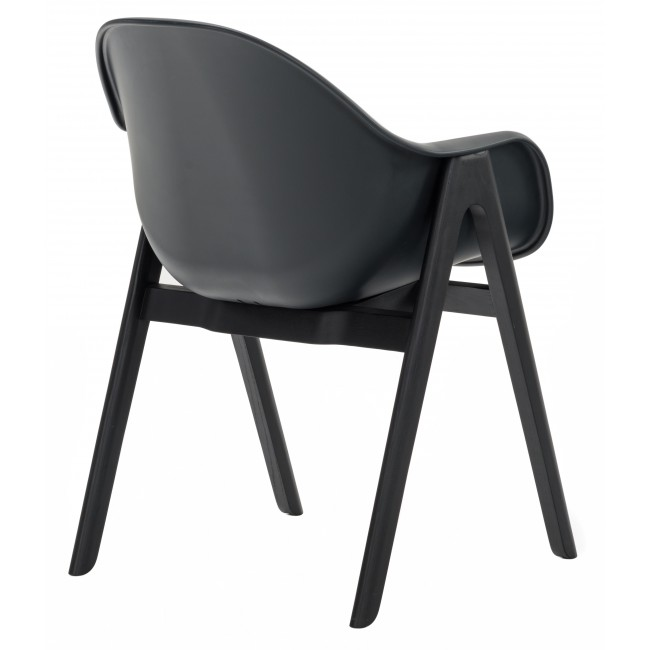 Cool Zoom Picture - Simple black plastic chairs Luxury