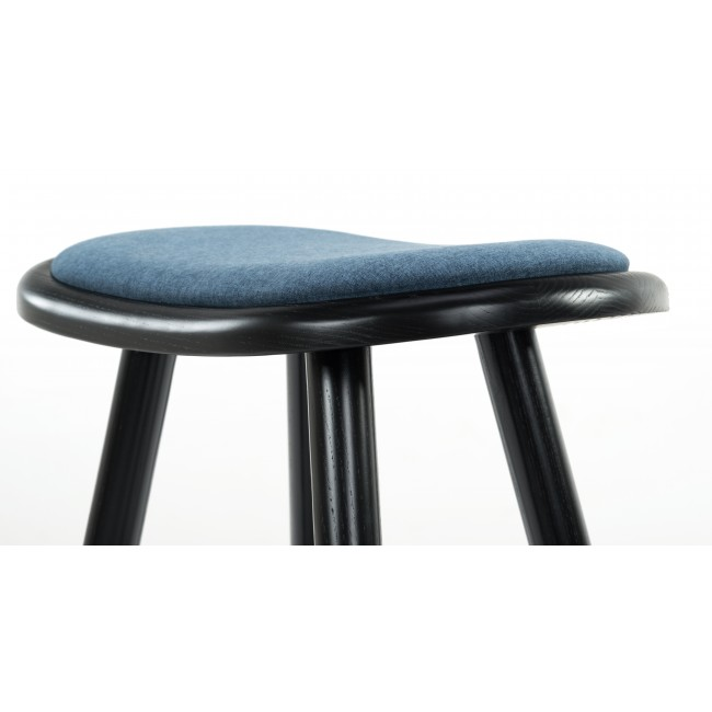 Groovy Nofu646 Bar Stool Black Ash With Ocean Blue Cushion And Footrest In Stainless Steel Andrewgaddart Wooden Chair Designs For Living Room Andrewgaddartcom