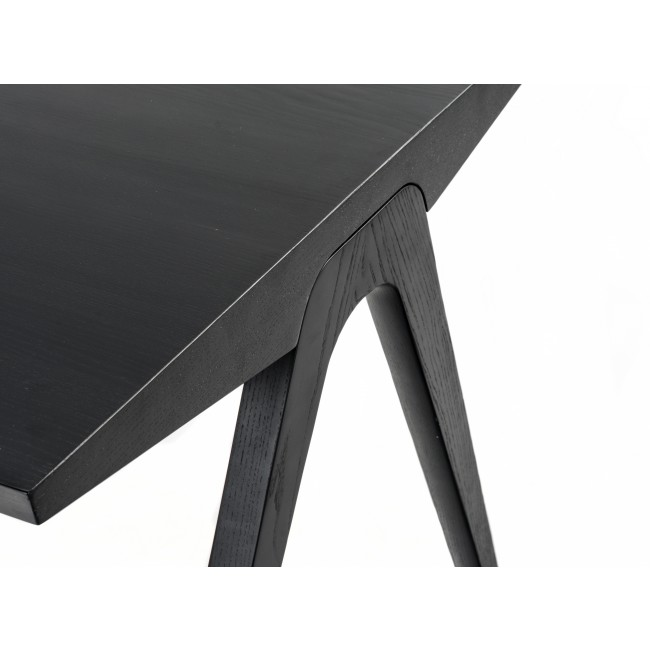 Nofu858 Dining Table L140cm In Black Ash Dinning Room Product
